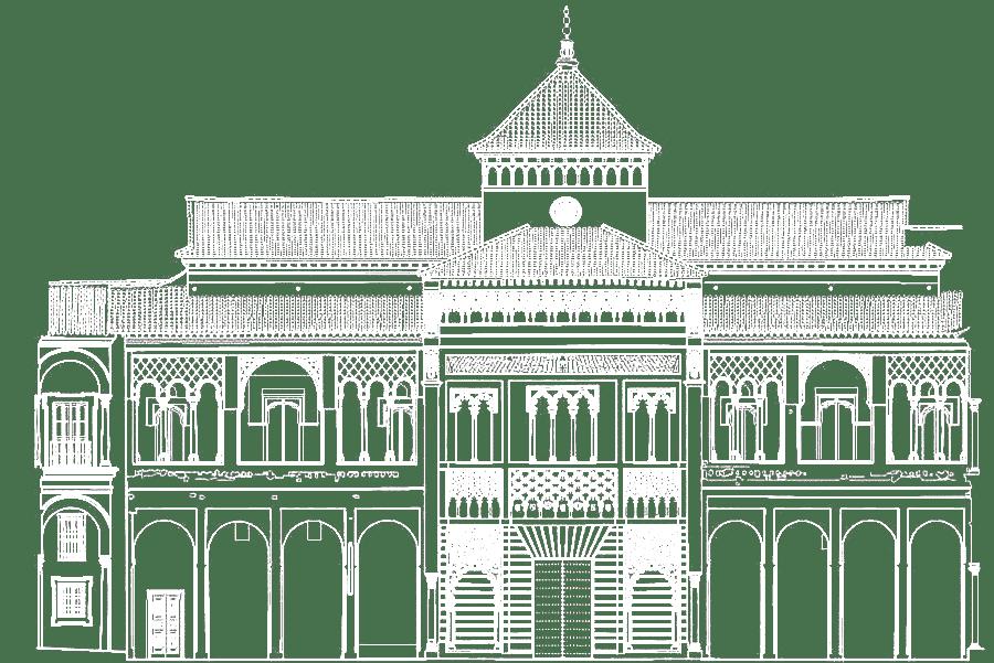 Ilustración del Alcázar de Sevilla