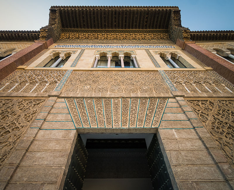 alcazar de sevilla portada palacio pedro